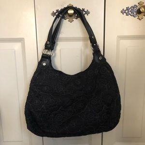 Thirty One Black/Gray Floral Bag